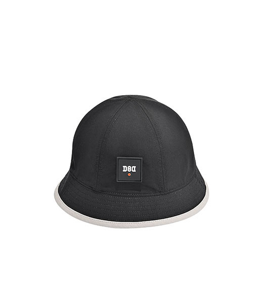 BLACK/GRAY ULTRA THIN TWO FACE BUCKET HAT
